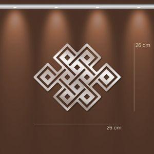 miroir d coratif symbole bouddhiste noeud ternel tatouages. Black Bedroom Furniture Sets. Home Design Ideas