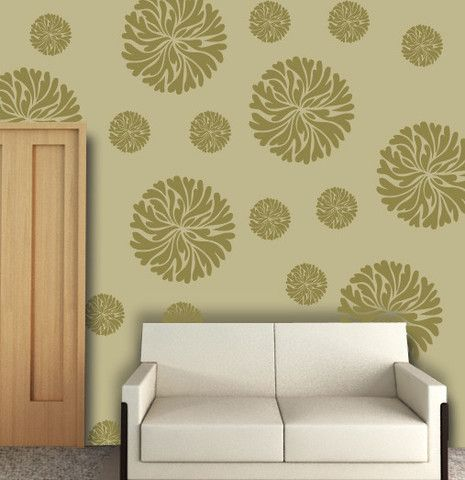 Stencil for flower wall stencil ideas for painting, FS-16 | Large ...
