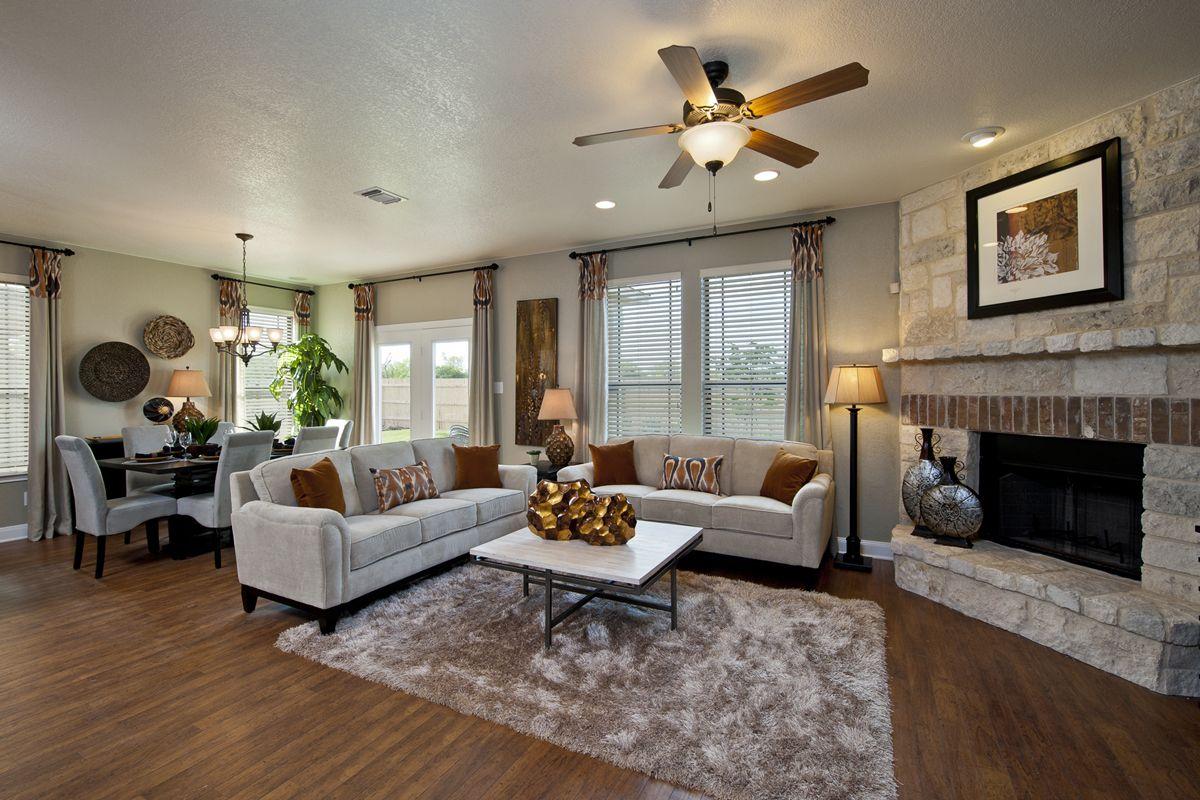 Amber Creek Home, Kb homes, Home living room