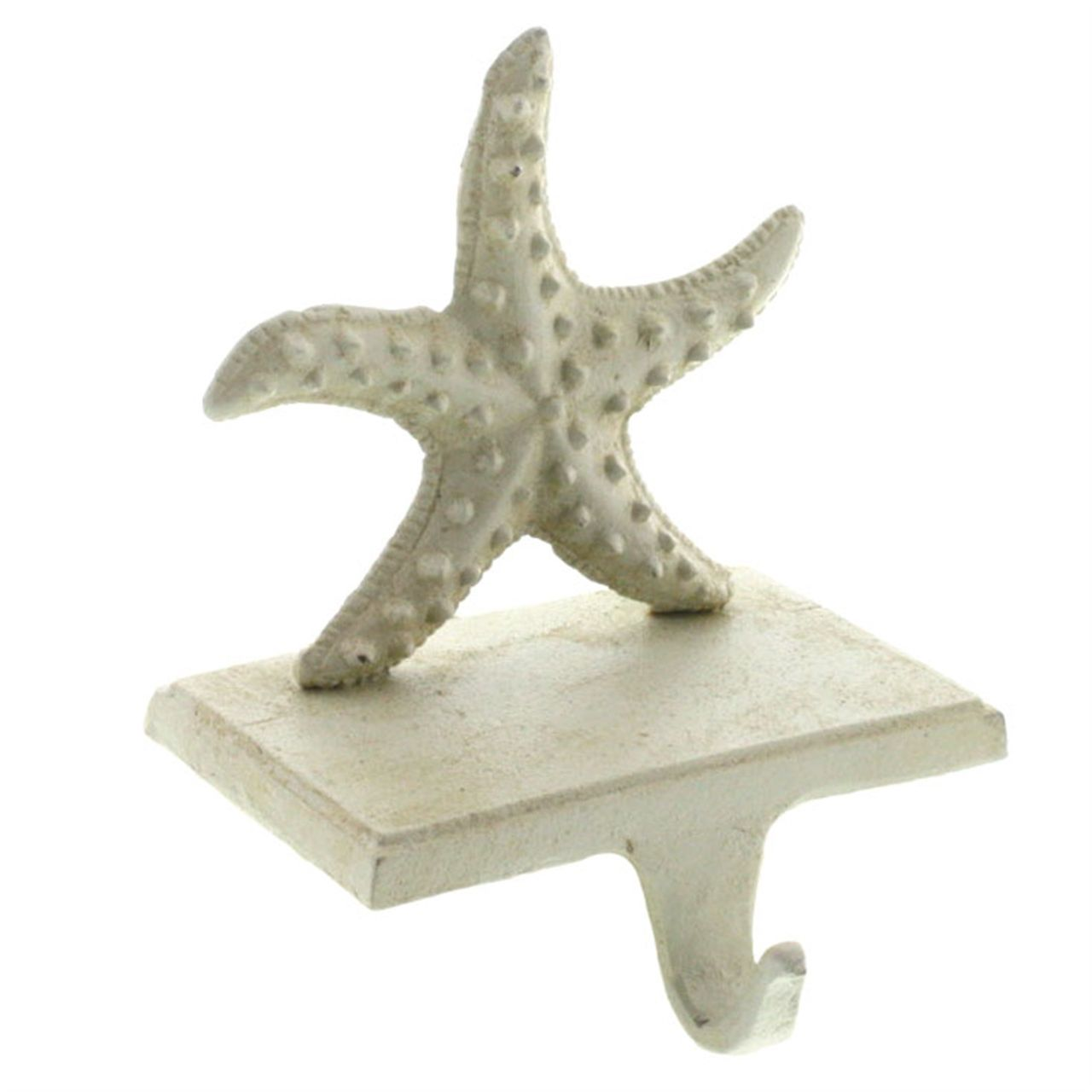 Antiqued White Starfish Stocking Hanger New For Us This Year