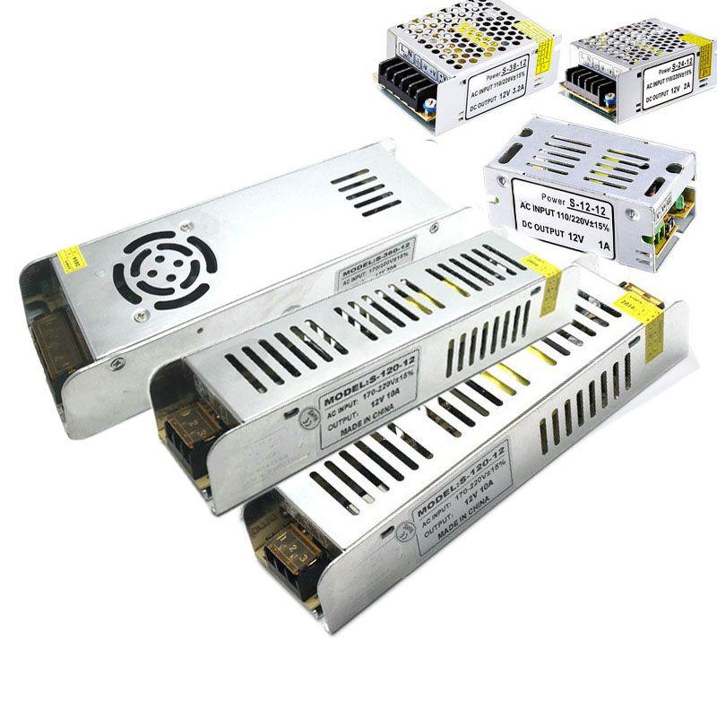 Puissance Led 12 W A 360 W Menee Conducteur Interrupteur D Alimentation Adaptateur 110 V 220 V A 12 V 24 Led Strip Lighting Led Power Supply Light Accessories