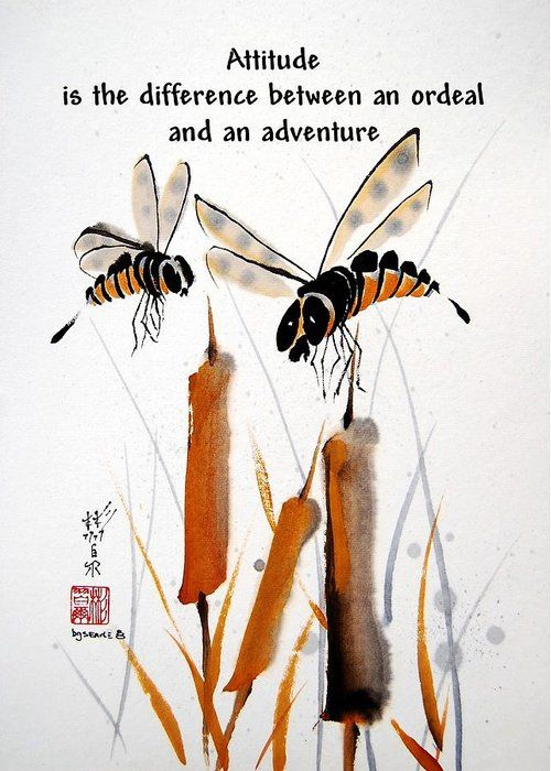 Beeing Present Greeting Card for Sale by Bill Searle