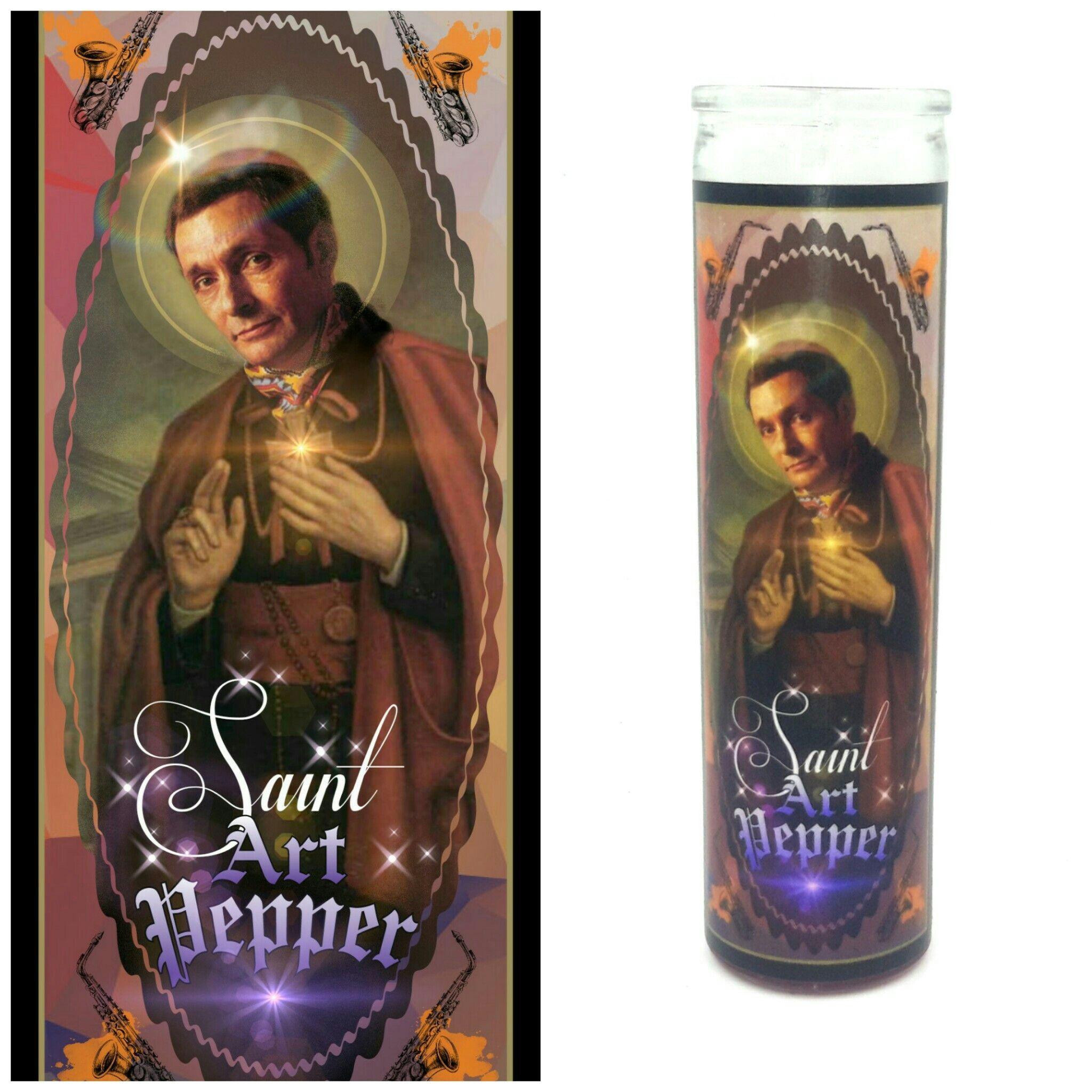 Art Pepper prayer candle