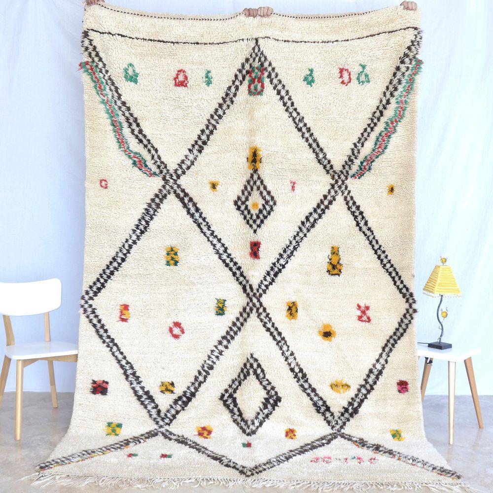 9 11x6 8 Beni Ourain Authentic Vintage Moroccan Rug Handmade 100 Loop Pile Wool Home Garden Rugs Carpets Area Ebay