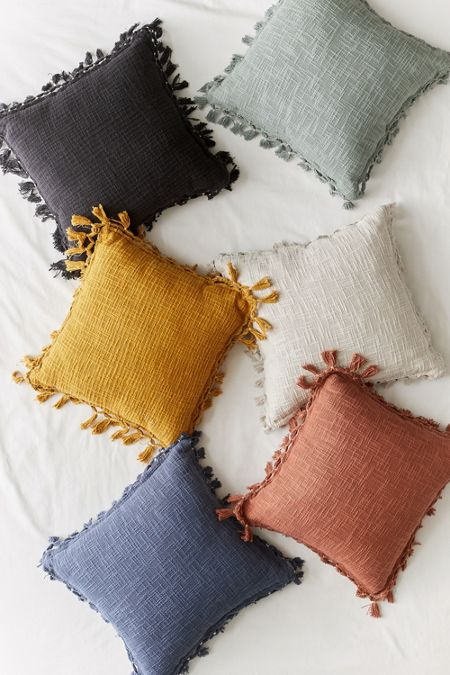Pin By Hailey Walter On Home Renovation In 2020 Boho Throw Pillows Throw Pillows Fringe Throw