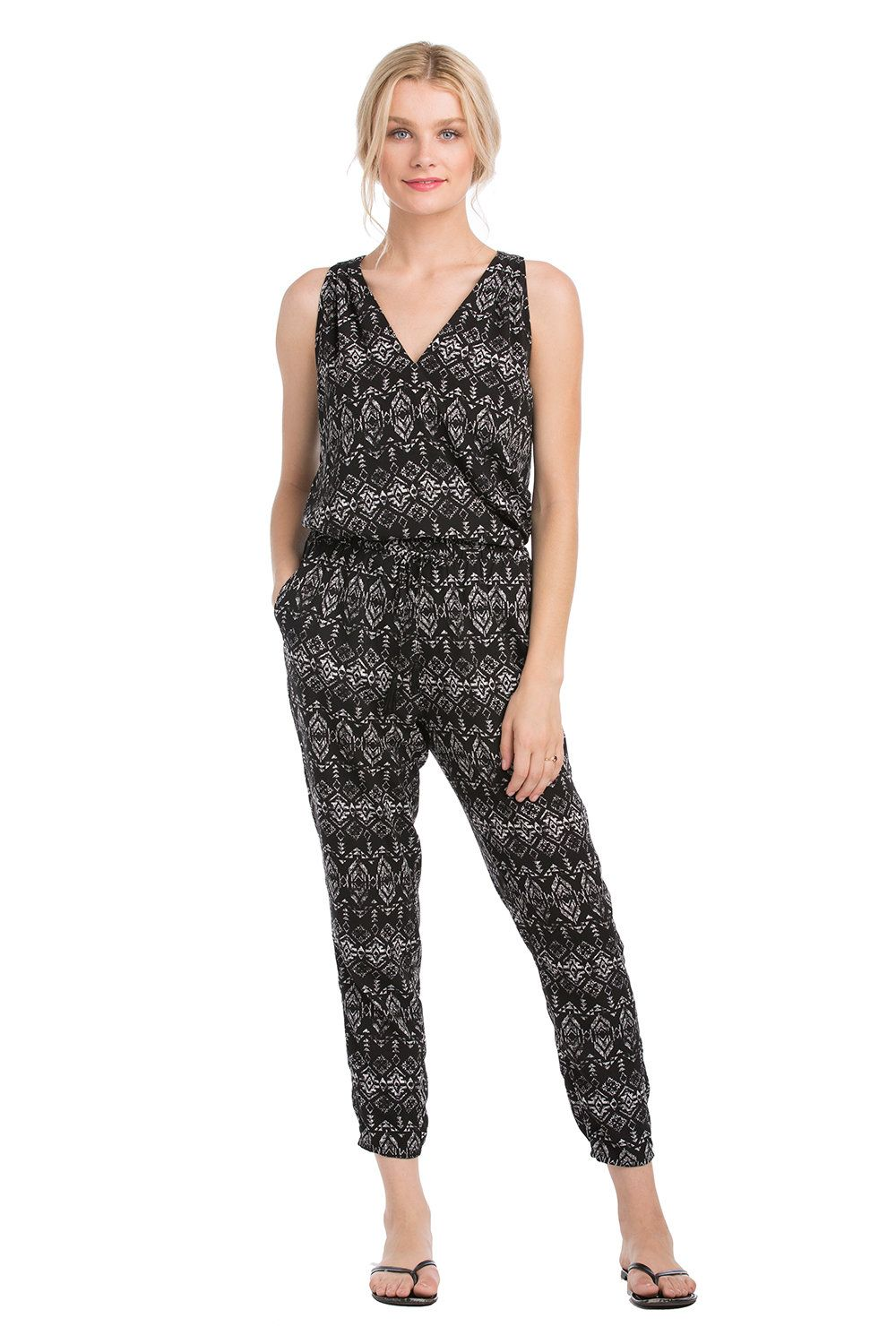 Our new Tahiti jumpsuit can be separated into a top and pants. It's sleek and the fabric is light enough for summer. vacaystyle.com