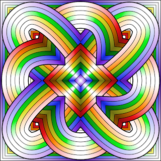 Coloring Page Psychedelic Mandala, Waves Ornament. Decorative ... | 320x320
