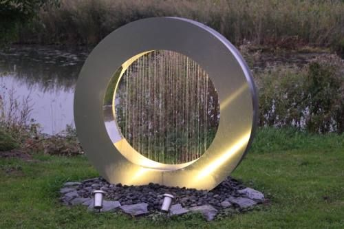 Brunnen Edelstahl.Gartenbrunnen Und Terrassenbrunnen Aus Edelstahl