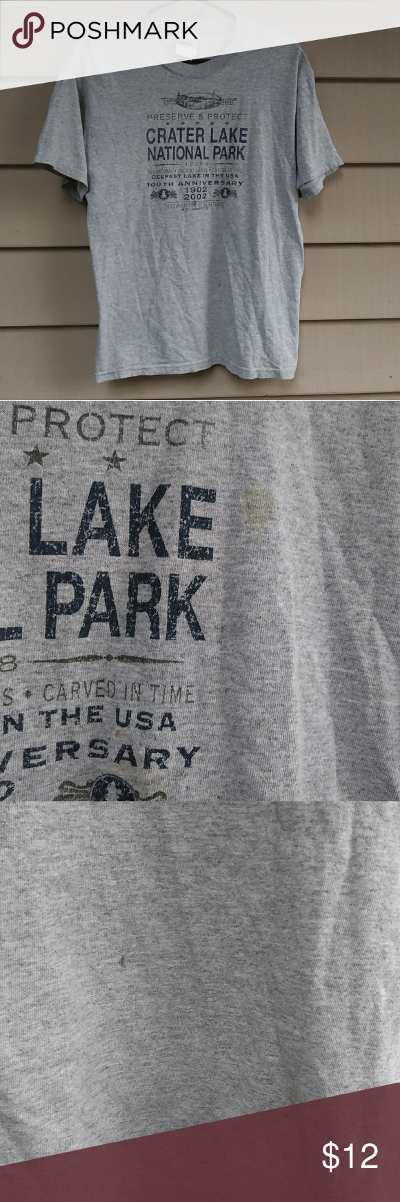Crater Lake Oregon T Shirt medium Has a couple discolorations. 25 long/20 across chest INV#10 Shirts Tees - Short Sleeve #craterlakeoregon Crater Lake Oregon T Shirt medium Has a couple discolorations. 25 long/20 across chest INV#10 Shirts Tees - Short Sleeve #craterlakeoregon
