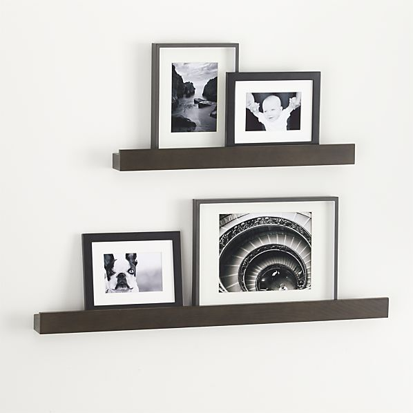 Archetype Brown Photo Ledges Crate And Barrel Decorative