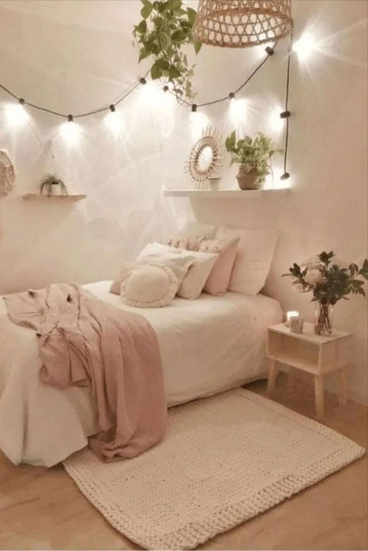 Beautiful Diy Fairy Light For Minimalist Bedroom Decoration Webvisit Bedroom Redesign Fairy Lights Bedroom Bedroom Design