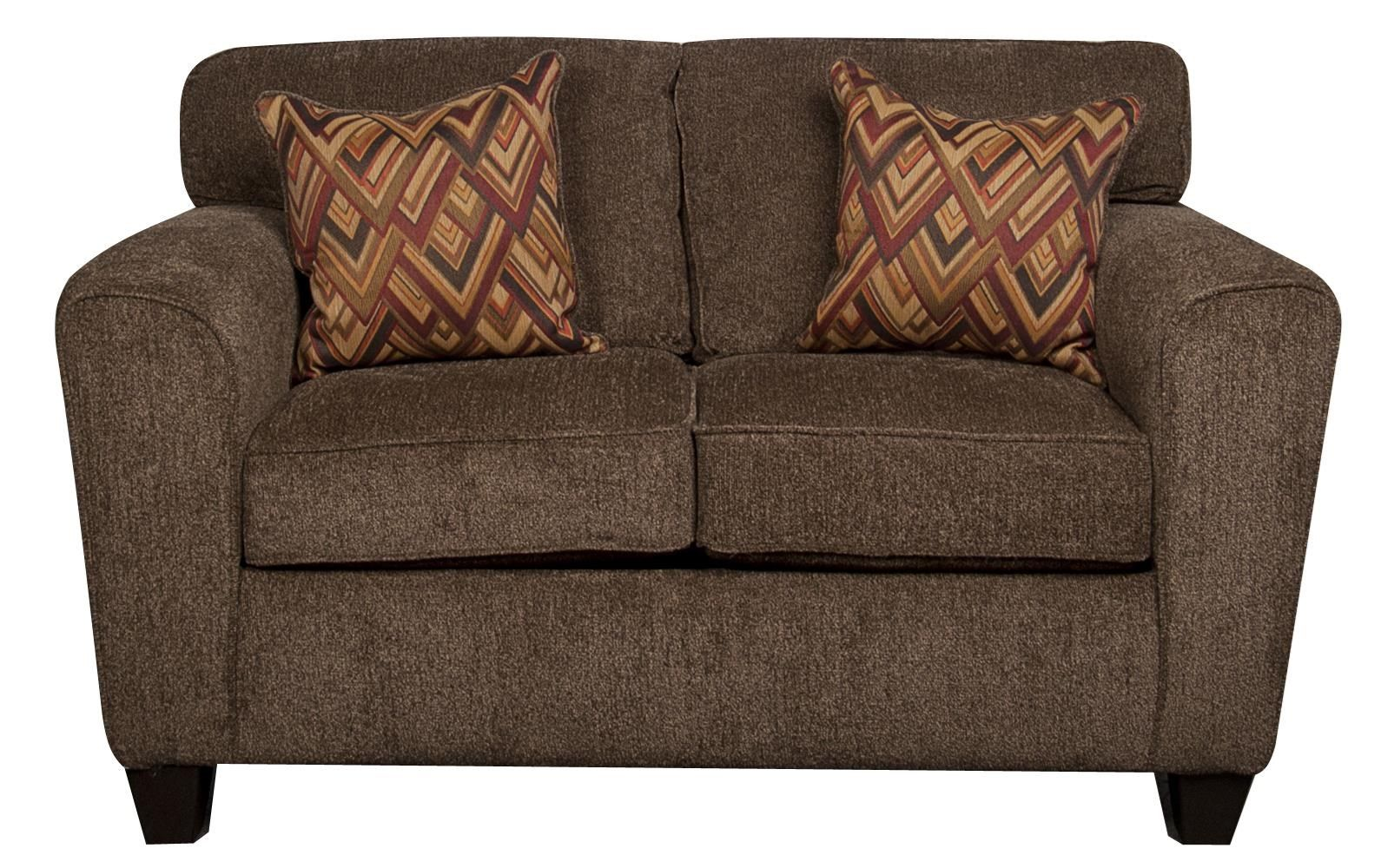 Wilson Contemporary Loveseat With Accent Pillows By Peak Living At Morris Home Love Seat Contemporary Loveseat Morris Homes