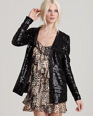 In love with this sequined cardi!