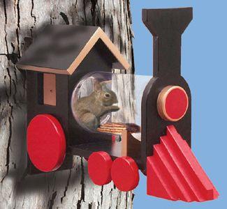 "Bird & Critter Houses/Feeders - ""Chew Chew"" Train Squirrel Feeder Project Patterns"