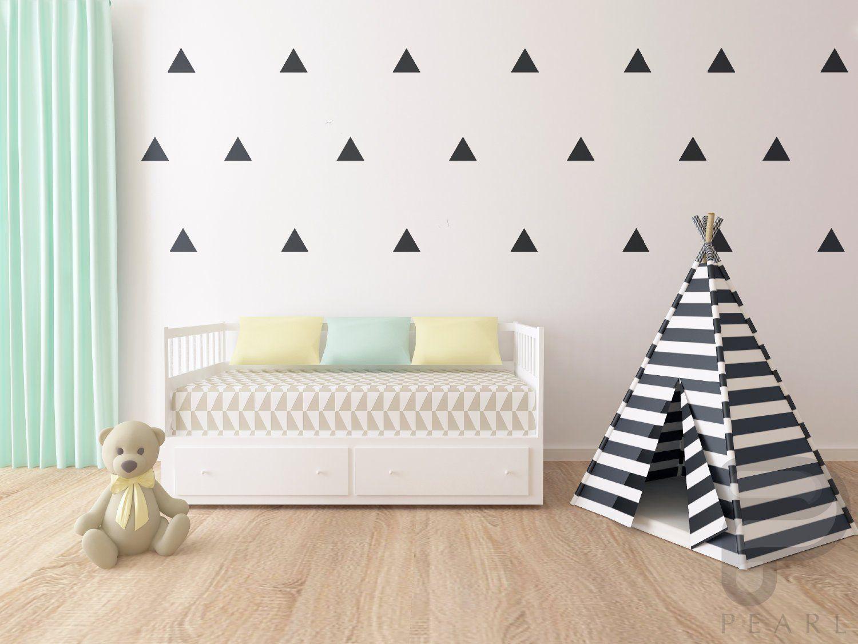 Triangle Wall Decals / Nursery Wall Decor / Kids Bedroom Wall