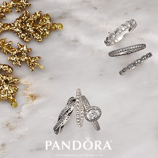 Sparkle and shine with rings from PANDORA Jewelry. Stack your favorites together or wear individually. Tis the season to be stunning!