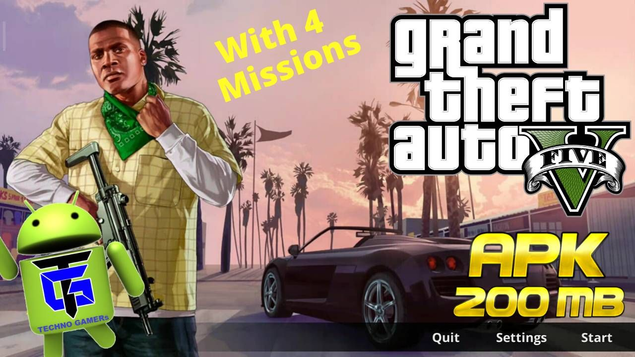 Free Download Gta V Apk 2020 For Android Gta Missions Offline Games