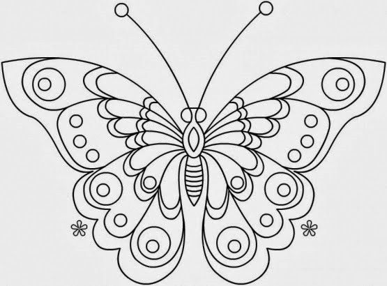 desenho2520de2520borboleta255B2255Djpg stencils Pinterest