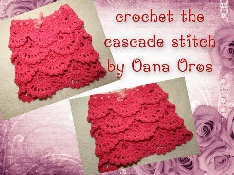 crochet the cascade stitch - this beautiful stitch can be used inso ...