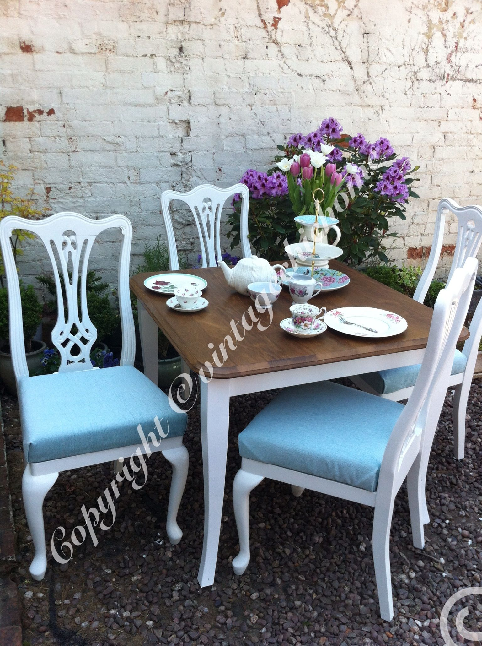 Shabby Chic Vintage Country Style Table And Chairs Www.vintagechichome.co.uk  Www