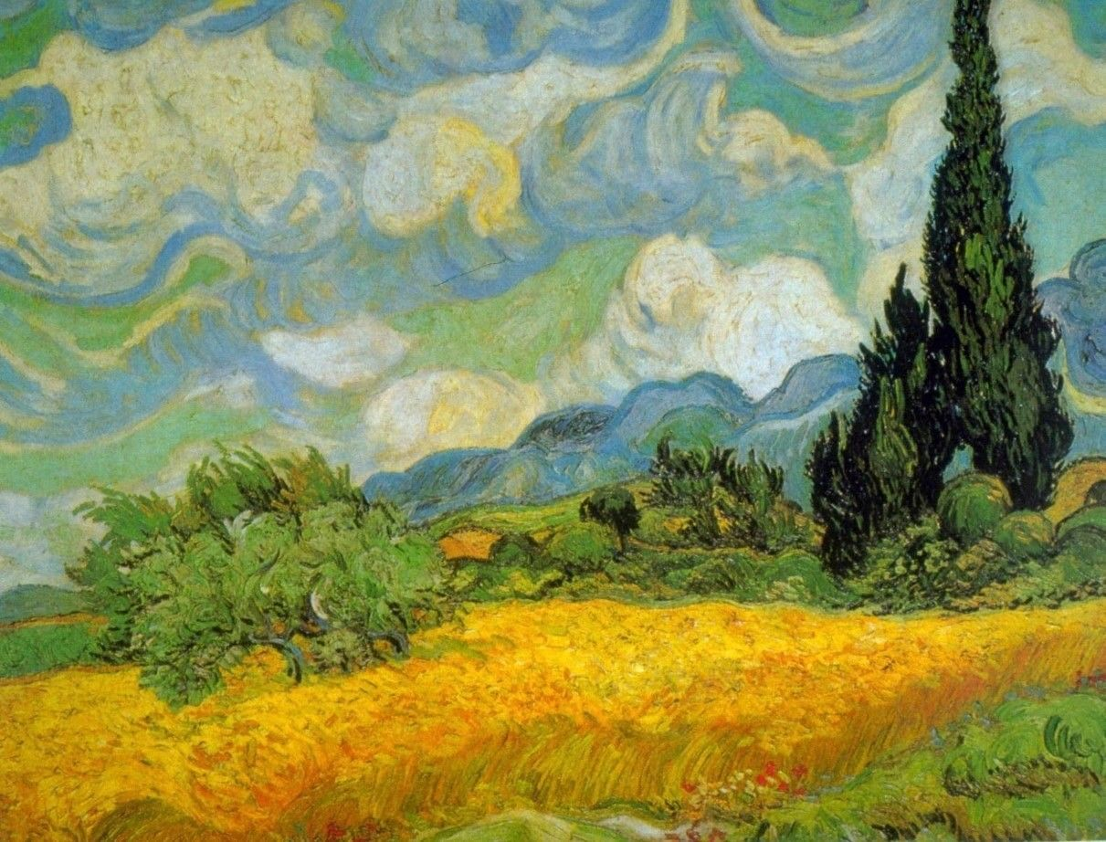 Trees by Vincent Van Gogh Giclee Fine Art Print Reproduction on Canvas