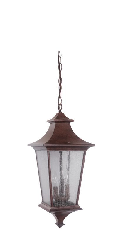 Craftmade Z1371-LED Argent 1 Light LED Rectangular Outdoor Pendant - 10 Inches W Aged Bronze Outdoor Lighting Pendants