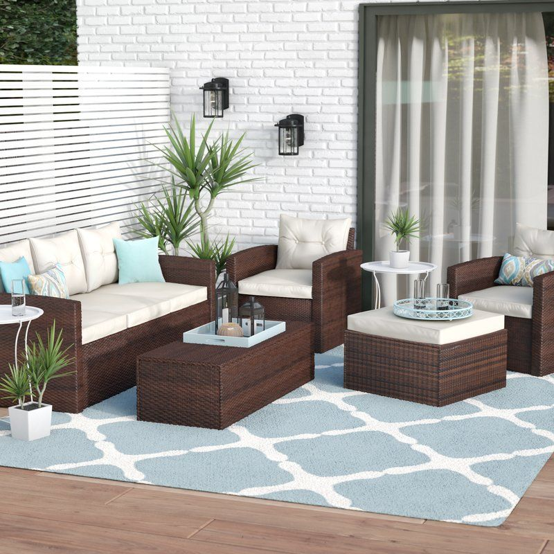 Sanor 5 Piece Sofa Set with Cushions