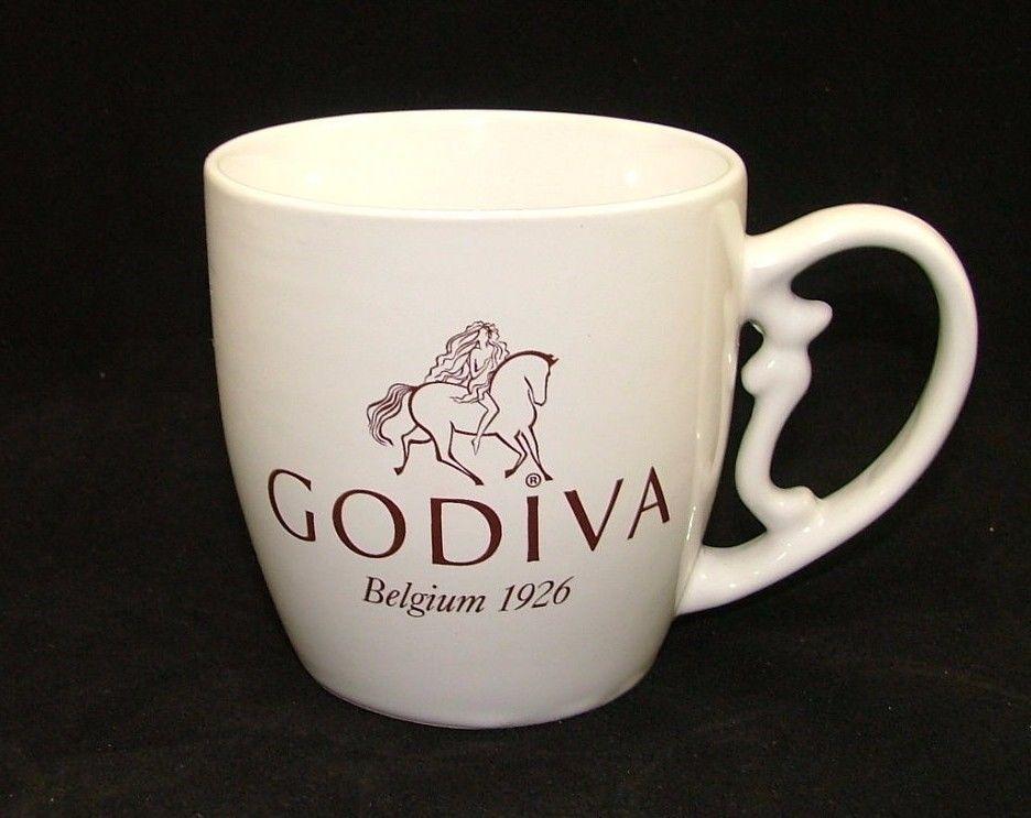 """GODIVA """"Belgium 1926"""" Coffee - Hot Chocolate - Tea, White Ceramic Mug"""