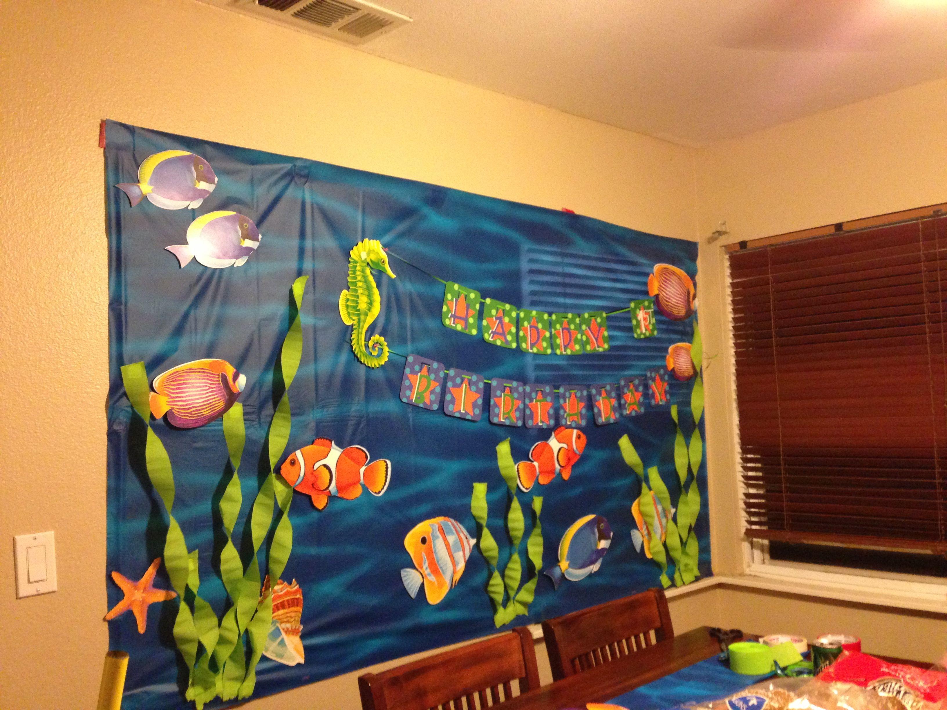 Nemo First Birthday Wall Decorations