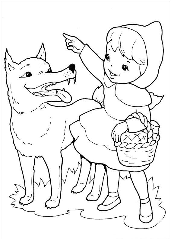 printable little red riding hood coloring pages for