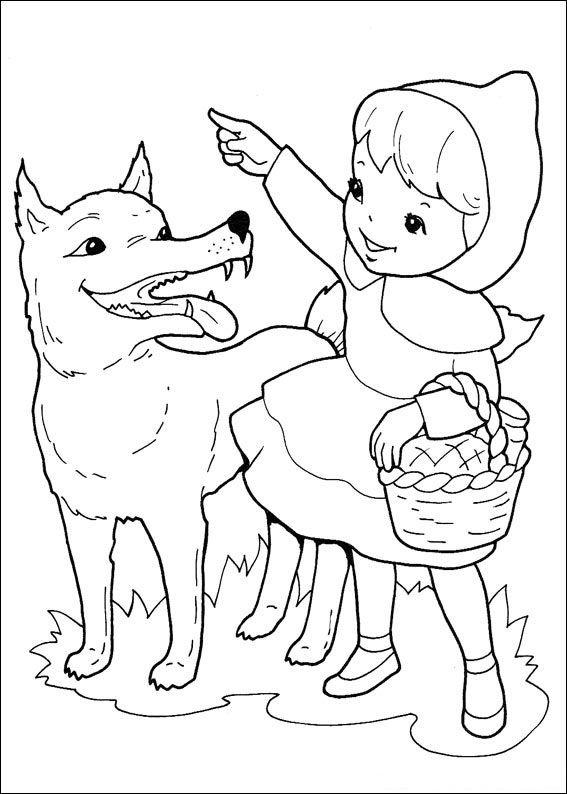 Little Red Riding Hood Coloring Page : little, riding, coloring, Printable, Little, Riding, Coloring, Pages, Kids., Litt…, Wolf,