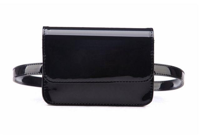 Mihaivina pu leather women waist packs bright small belt waist bag bags hand bag