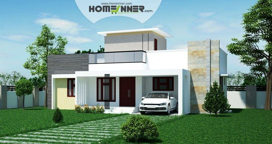 Single Floor Modern Kerala Home Design