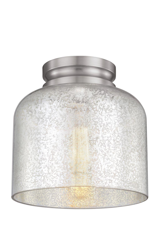 huge discount 0cacb 91fa3 One Light Flushmount, Mercury Glass, Nickel, Hallway Light ...