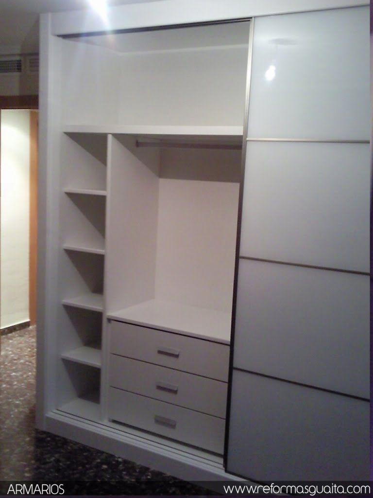Reformas guaita armario lacado con cristal blanco - Armario dormitorio blanco ...