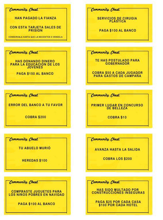 Monopoly Para Imprimir Con Provincias Argentinas Completo Con