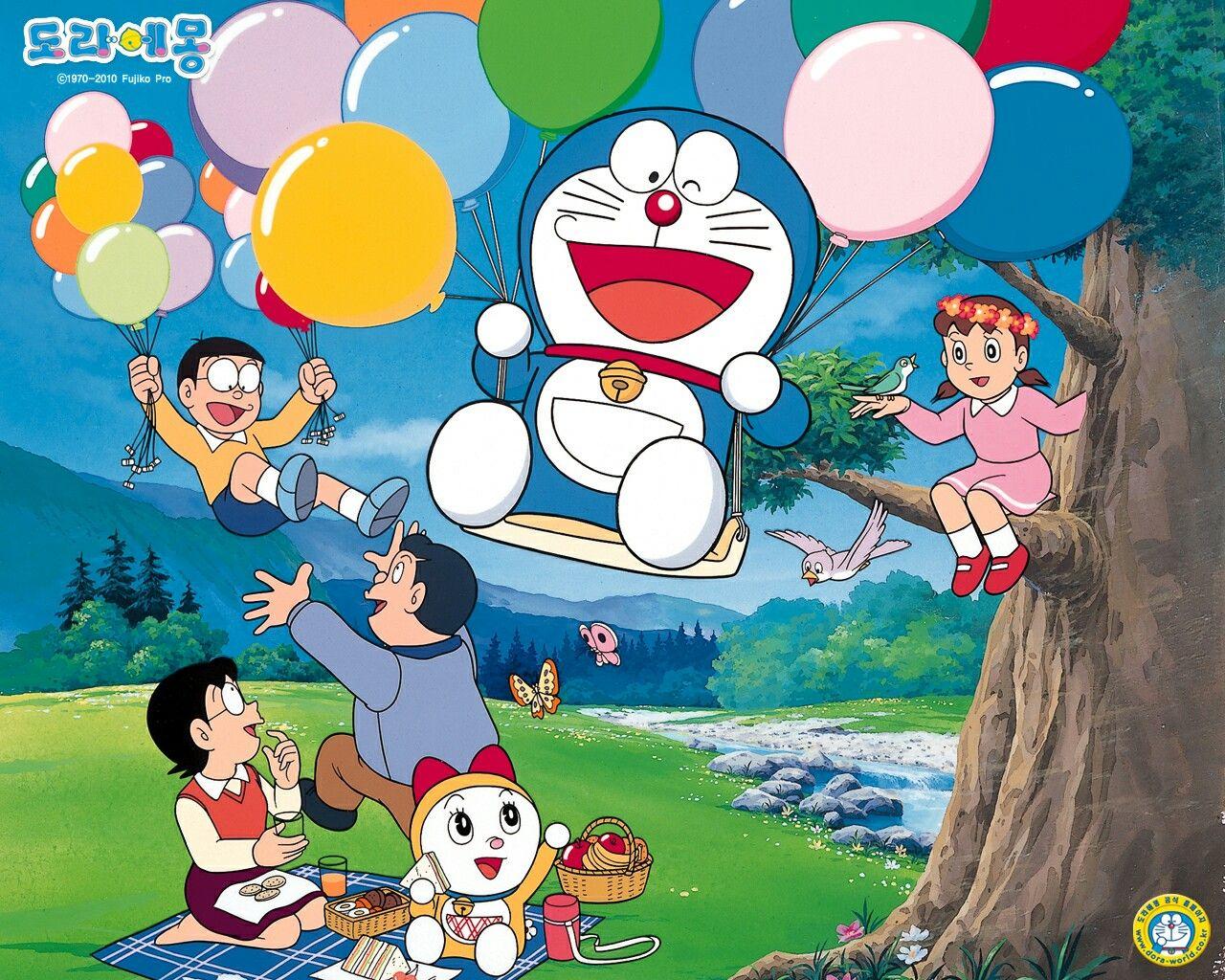 Pin by ukhty tikha on dor'em Doraemon wallpapers
