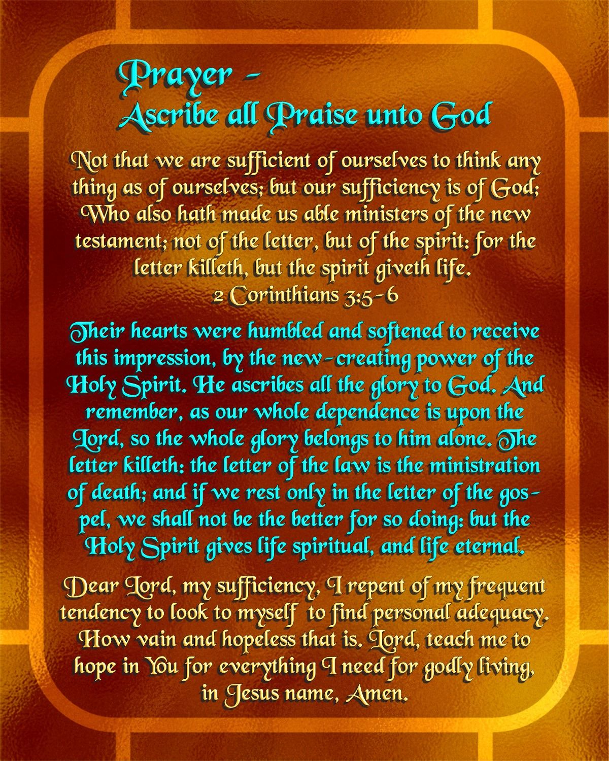 Prayer - Ascribe all Praise unto God