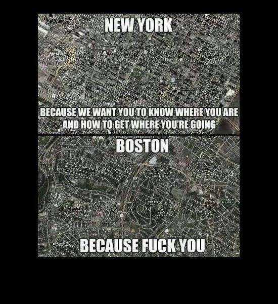 boston vs new york map Today S Funniest Photos 2 21 14 Funny Photos Ny Map Funny boston vs new york map
