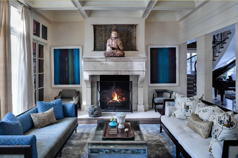 OBSESSED With This Beautiful Blue, Zen Living Room