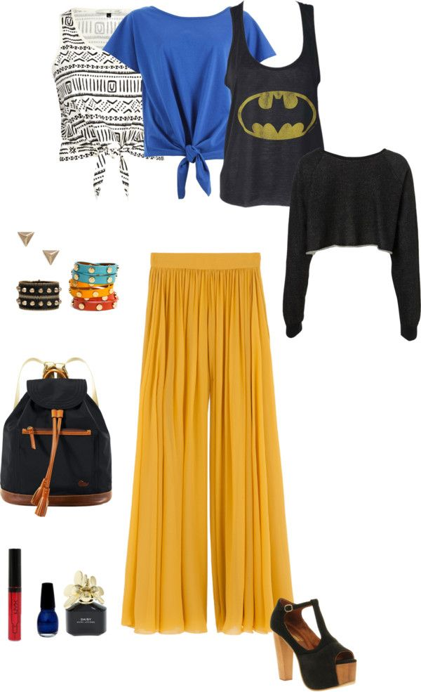 """summer bat girl"" by lapassionista on Polyvore"
