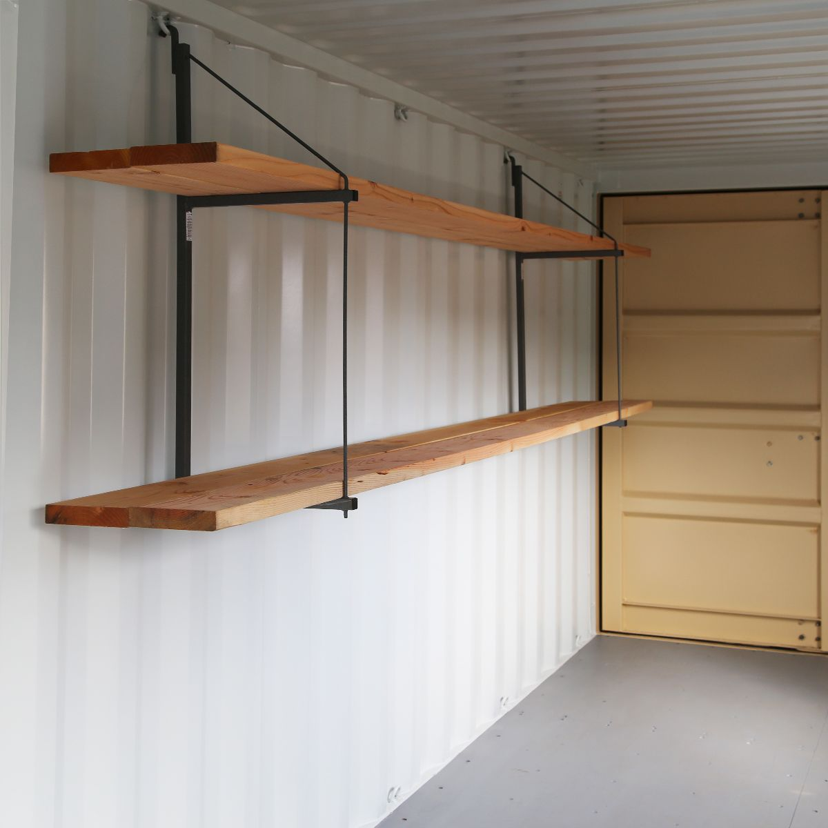 Pin On Garage Storage Shelves: Shipping Container Workshop, Shipping Container