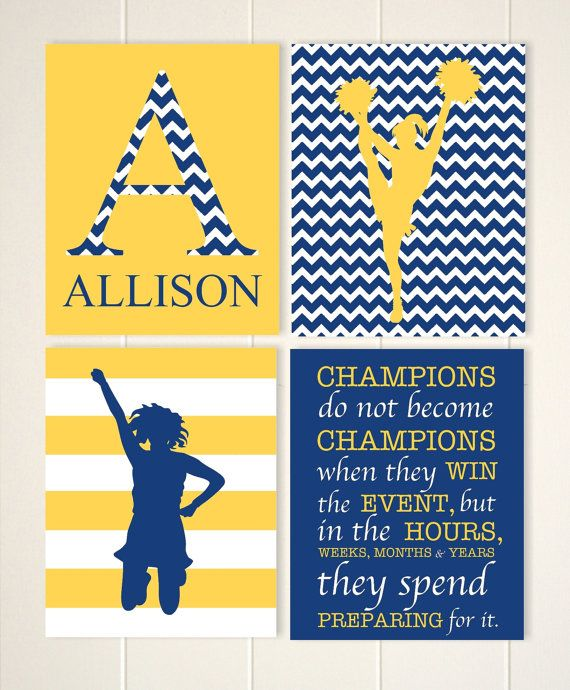 Gift idea for girl, cheerleader wall art, girls room decor, girls ...