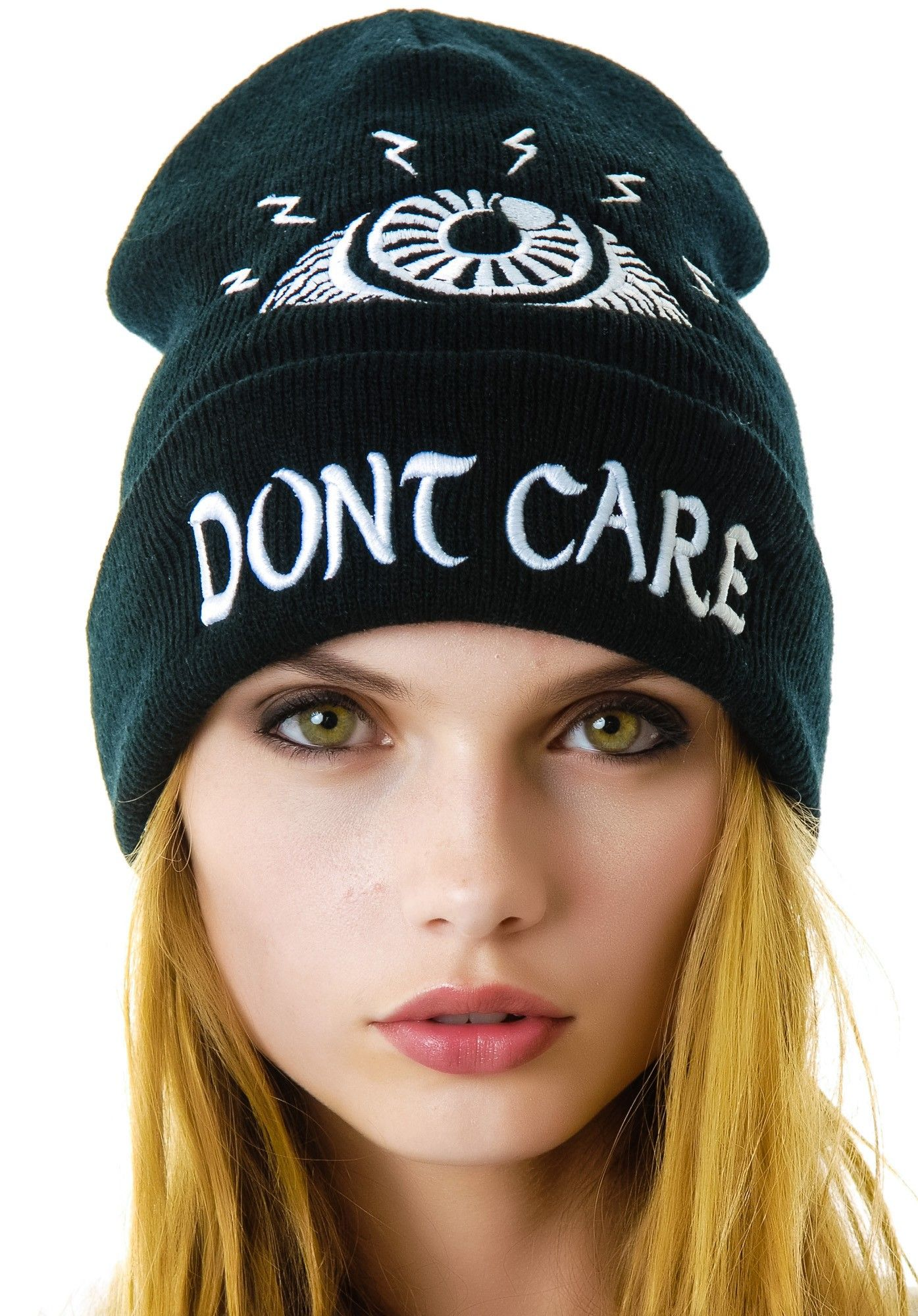 cde88663 UNIF Eye Don't Care Beanie   Dolls Kill   UNIF all the things ...