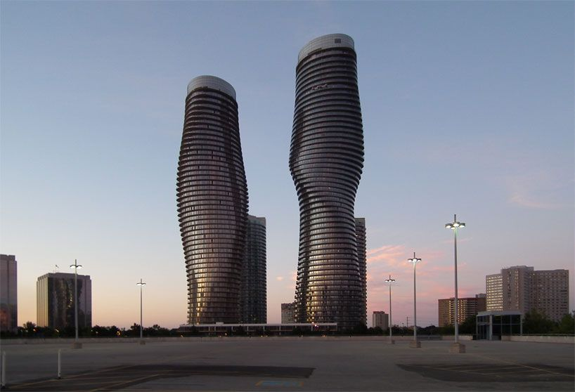 Voted as one of the most beautiful by the council on Tall Buildings and Urban Habitat.  Best of all its in Mississauga Canada wow wonderful!!    The Tallest Skyscrapers in a North American Suburban City - Mississauga's Absolute Towers