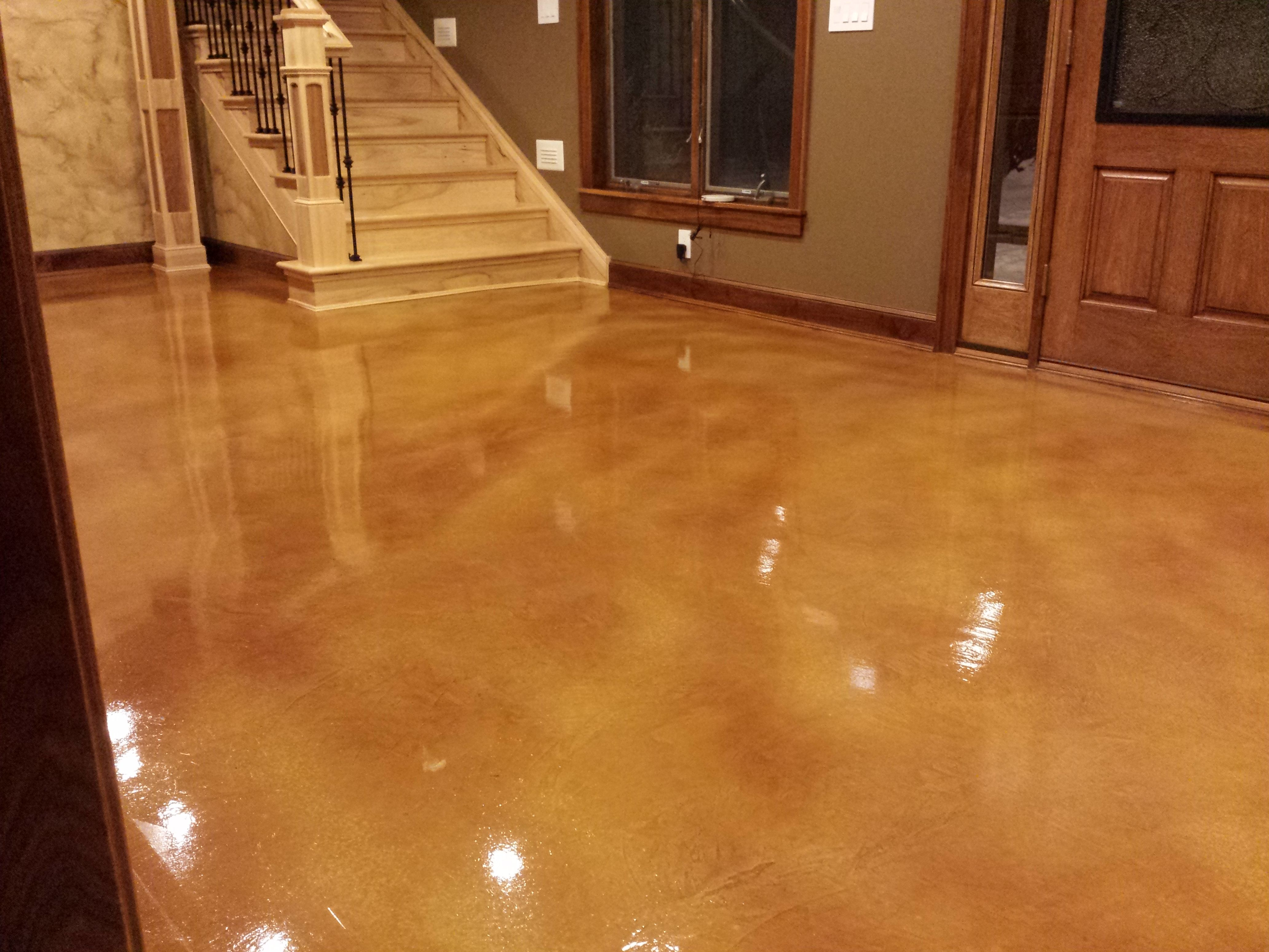 Stained concrete floor epoxy floor microtopping for Microtopping costi