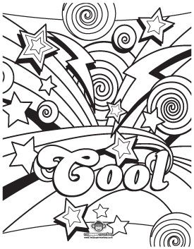awesome coloring pages for adults coloring fun for kids and grownups dazed 80s printable - Fun Printable Coloring Pages