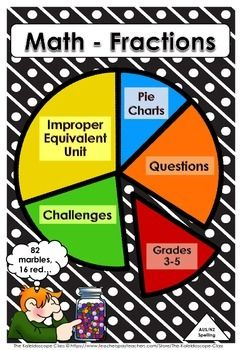 This resource has the following worksheets  eequivalent fractions  eimproper  eunit of  group  epie chart fractions   math also pie charts stories  challenges rh pinterest