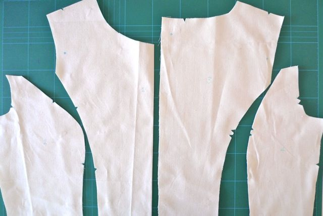 Cutting out the right size pattern