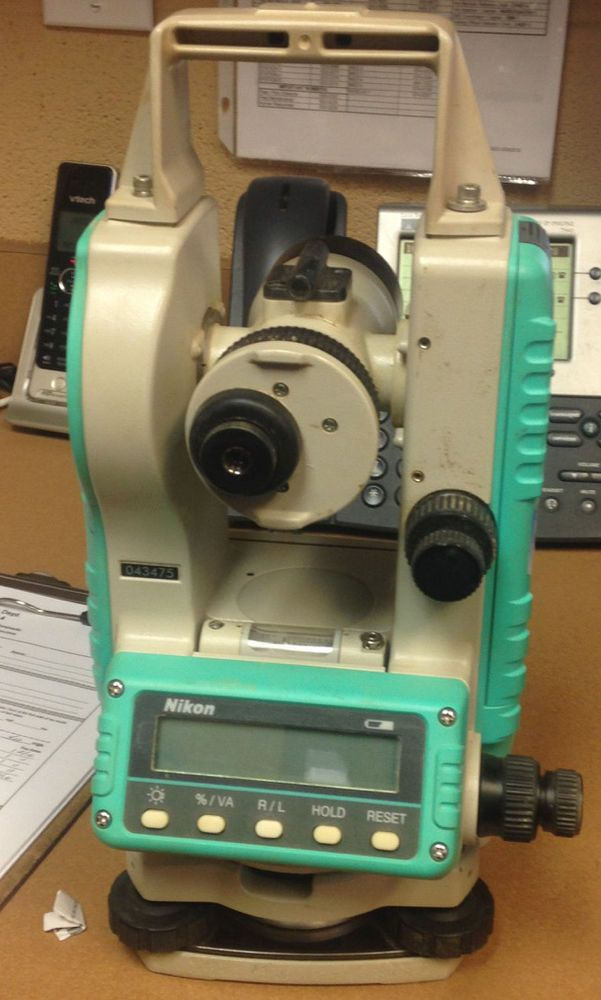 THEODOLITE by NIKON Model NE-101 Digital Surveying Tool WITH CASE